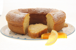 Juicy orange and lemon cake