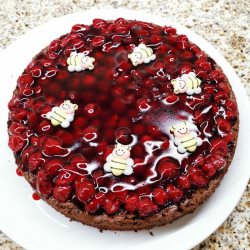 Almond Chocolate Cherry Cake