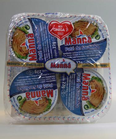 Sardinen-Paste Manna Portugal 4x22g Pack