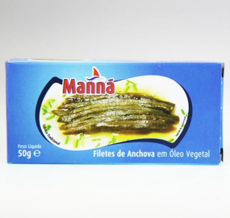 Sardellen-Filets in Pflanzenöl, Manna, 50g Dose