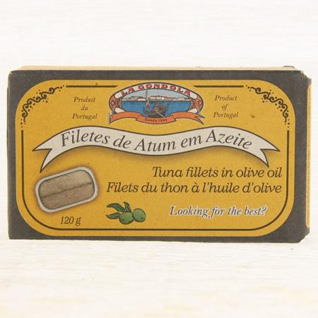 Thunfisch-Filets in Olivenöl, LaGondola, classic filetes de atum em azeite 120g Dose