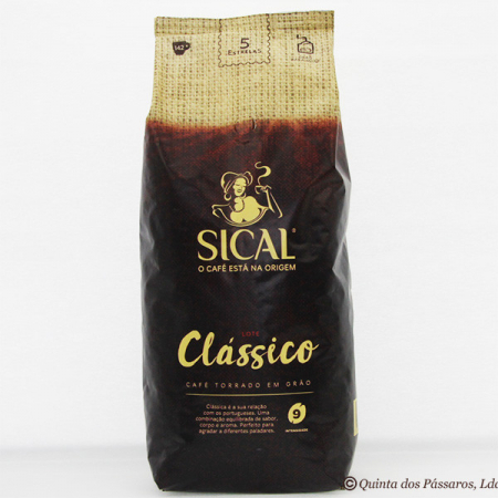 SICAL Coffee, Whole bean, variety classico, intensity 9, package of 1000g