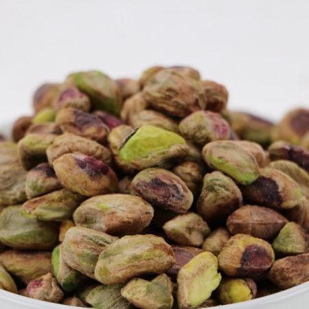 Pistachios, kernels, with peel, organic, raw, all-natural