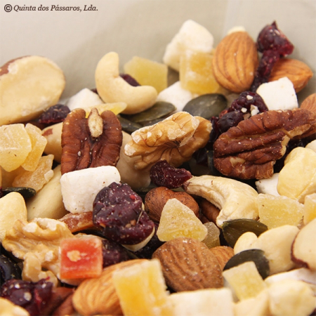 Nuts and fruits assortment