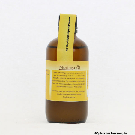 Moringa Skin Oil, Cold pressed behen oil, controlled cultivation, 100ml