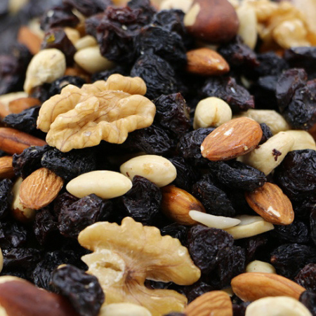 Trail Mix, raisins and nuts. Energy booster!