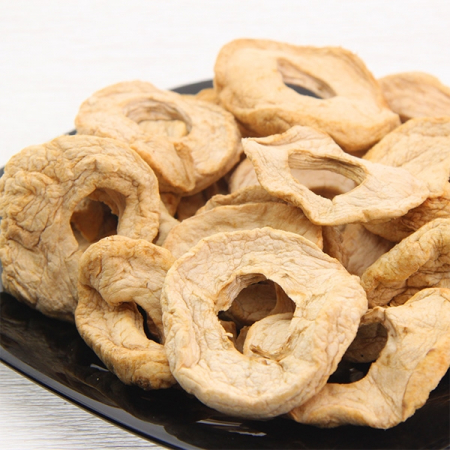 Apple rings dried, untreated, 500g