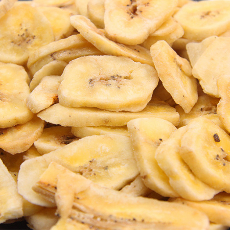 Banana chips, roasted, unsweetened, 250g