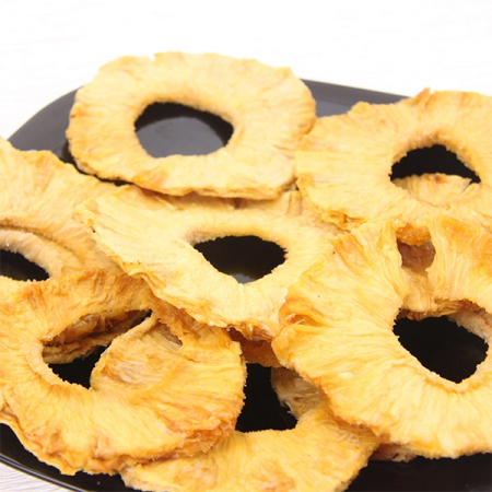 Pineapple rings, dried, sliced, non treated, all-natural
