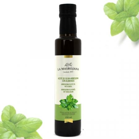 Olivenöl Arbequina, Virgin extra BASILIKUM (albahaca) 250ml Fla.