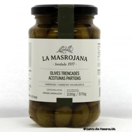 Olive grün, britada, mit Stein 370g Glas