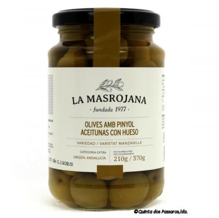 Olive grün, Manzanilla, mit Stein, 370g Glas