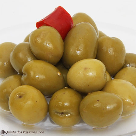 Olive green, Gordal, with stone, 500g vacuum pack