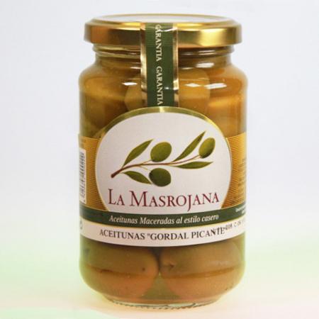 Olive grün, Gordal, mit Chilli u. Stein 370g Glas