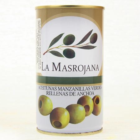 Manzanilla Oliven, gefüllt mit Anchovis, 370ml Dose