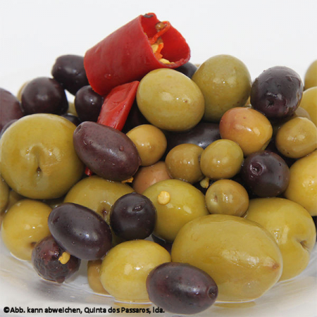 Oliven-Mix, mit Stein, 500g Vakuum-Pack