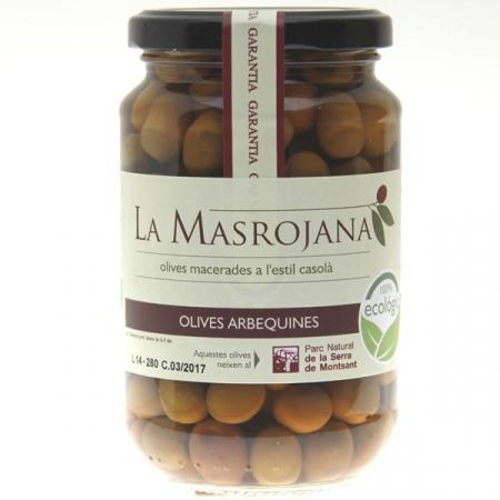 Olive grün mit Stein, Arbequina, 370ml Glas
