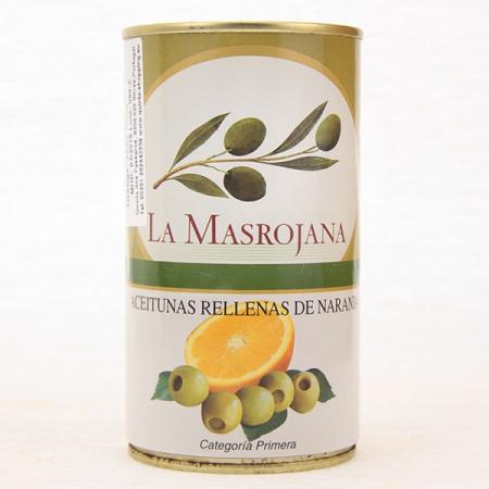 Manzanilla Oliven, gefüllt mit Orange, 370ml Dose