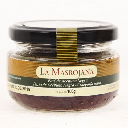 Olivenpaste, aus schwarzen Oliven, 100g Glas
