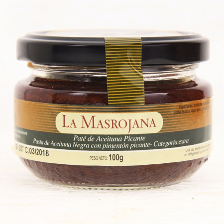 Olivenpaste, pikant, aus schwarzen Oliven, 100g Glas