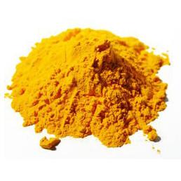 Kurkuma (Gelbwurzel) gemahlen. Das heiße Gewürz im Ayurveda