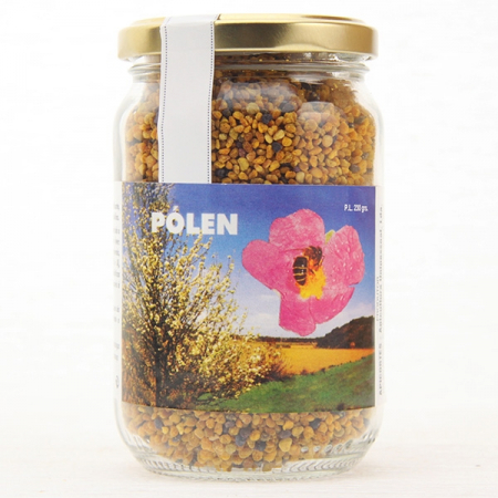 Bees - bee pollen, 230g glass