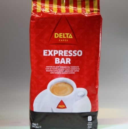 Coffee Delta Espresso Bar, Torrado / Torrefacto, whole bean, 1 kg