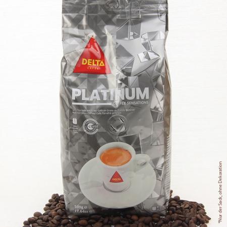 Kaffee Delta, PLATINIUM Gourmet, Ganze Bohne, 500g