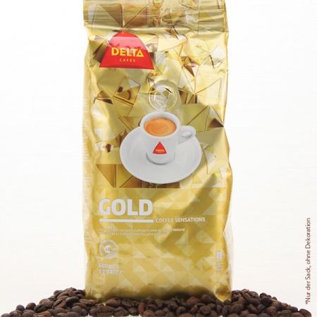 Kaffee Delta GOLD Kaffee Sensation ganze Bohne 500g