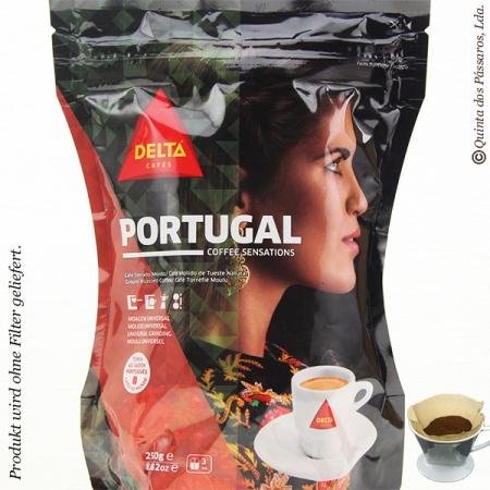 Kaffee Delta gemahlen  PORTUGAL   250g