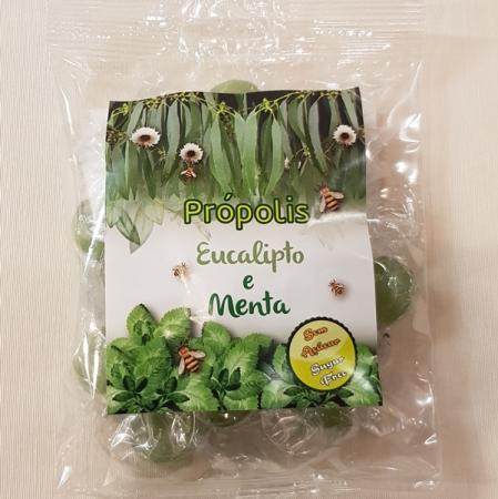 Bonbons aus Propolis, Eukalyptus und Minze mit Vitamin C (Rebuçados de Eucalipto, Menta e Propolis) 75g