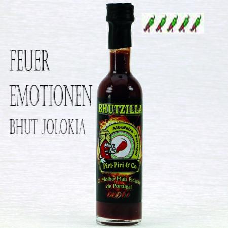 Bhutzilla extrem scharfe Gourmet Gewürzsosse 50ml Piri-Piri & Co