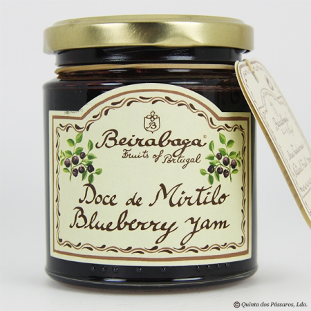 Blueberry jam (mirtilo) Beirabaga 270g glass