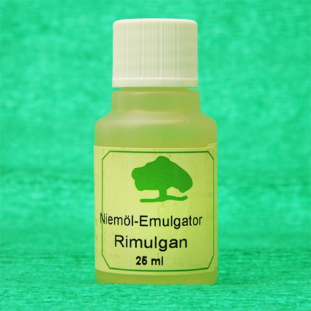 Emulsifier for neem oil, Rimulgan, 25 ml bottle