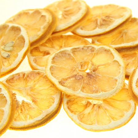 Lemon slices, dried, 100g