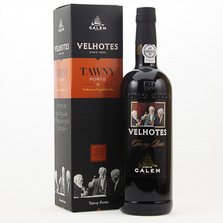 Port wine Calem Velhotes Tawny, classic 750ml bottle