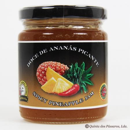 Ananasmarmelade mit Chili, süß und pikant 280g Glas