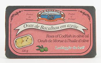 Fischeier in Olivenöl, Ovas de Bacalhao azeite 120g Dose