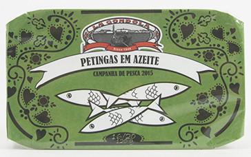 Petinga, Jahrgangs-Sardine extra klein in Olivenöl LaGondola em azeite ano 120g Dose