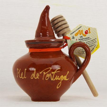 Honig im dekorativen Tontopf mit Honigschöpfer 420g